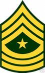 STICKER RANK US ARMY E9 SERGEANT MAJOR VINYL