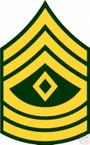 STICKER RANK US ARMY E9 FIRST SERGEANT VINYL