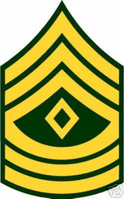 Sticker Rank Us Army E9 First Sergeant Vinyl M C