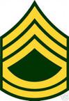 STICKER RANK US ARMY E7 SERGEANT FIRST CLASS VINYL