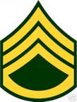 STICKER RANK US ARMY E6 STAFF SERGEANT VINYL