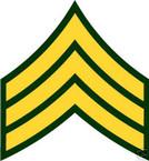 STICKER RANK US ARMY E5 SERGEANT VINYL