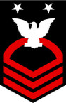 STICKER RANK U S NAVY E9 FORCE MASTER CHIEF PETTY OFFICER B