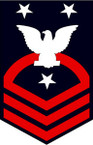 STICKER RANK U S NAVY E9 FORCE MASTER CHIEF PETTY OFFICER