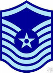STICKER RANK AIR FORCE E8 SENIOR MASTER SERGEANT