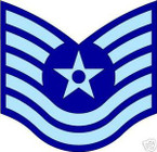 STICKER RANK AIR FORCE E6 TECHNICAL SERGEANT
