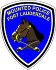 STICKER r FORT LAUDERDALE MOUNTED POLICE