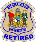 STICKER r DELAWARE STATE POLICE RETIRED
