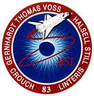 STICKER NASA SPACE SHUTTLE MISSION STS-83