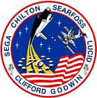 STICKER NASA SPACE SHUTTLE MISSION STS-76