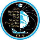 STICKER NASA SPACE SHUTTLE MISSION STS-75