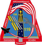 STICKER NASA SPACE SHUTTLE MISSION STS-119