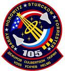 STICKER NASA SPACE SHUTTLE MISSION STS-105