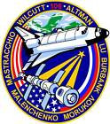 STICKER NASA SPACE SHUTTLE MISSION STS-106