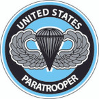 STICKER MILITARY USMC ARMY NAVY PARATOOPER