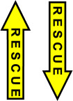 STICKER MILITARY RESCUE