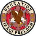 STICKER MILITARY Operation Iraqi Freedom 5
