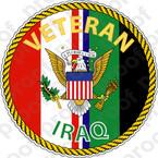 STICKER MILITARY IRAQ VETERAN