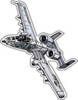 STICKER MILITARY AIRCRAFT A-10 Thunderbolt II