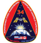 STICKER ISS Expedition  34
