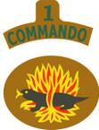 STICKER British SSI - Great Britain - 1st Commando