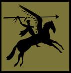 STICKER British SSI - Great Britain - 1st Airborne Division - Subdued - 1