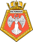 STICKER British Ship Badge - Great Britain - HMS Victorious