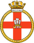STICKER British Ship Badge - Great Britain - HMS Prince of Wales