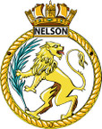 STICKER British Ship Badge - Great Britain - HMS Nelson