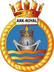 STICKER British Ship Badge - Great Britain - HMS Ark Royal