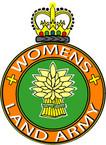 STICKER British Crest - The Womens Land Army