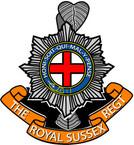 STICKER British Crest - The Royal Sussex Regiment