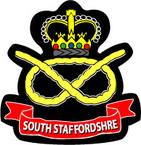 STICKER British Crest - South Staffordshire Regt - South Staffs - 1