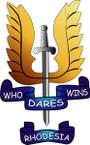 STICKER British Crest - SAS - Rhodesia