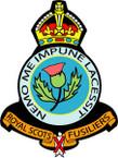 STICKER British Crest - Royal Scots Fusiliers