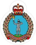 STICKER British Crest - Royal Observer Corps