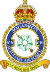 STICKER British Crest - RAF - 616 Squadron