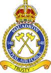 STICKER British Crest - RAF - 148 Squadron