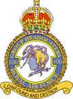 STICKER British Crest - RAF - 100 Group