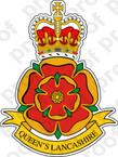 STICKER British Crest - Queens Lanshire Regiment