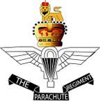 STICKER British Crest - Parachute Regiment Badge