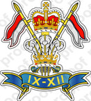 STICKER British Crest 9 12th Lancers