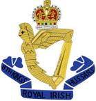 STICKER British Crest - 8th Kings Royal Irish Hussars - 1