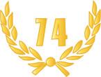 STICKER British Crest - 74th Headquarters Squadron - RLC