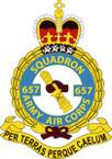 STICKER British Crest - 657 SQN - Army Air Corps (AAC)
