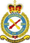 STICKER British Crest - 654 SQN - Army Air Corps (AAC)