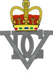 STICKER British Crest - 5th Royal Inniskilling Dragoon Guards - 1