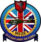 STICKER British Crest - 25th Flight - Army Air Corps