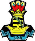 STICKER British Crest - 11th Hussars (Prince Alberts Own)
