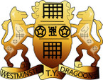 STICKER British Collar Badge - Westminster Dragoons